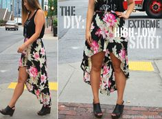 Hey Wanderer: the DIY: EXTREME HIGH LOW SKIRT