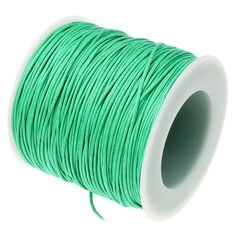 Waxed Cotton Cord : 10 yards (30 feet) Turquoise Green .7mm Waxed Cord String / Bracelet Cord / Macrame / Chinese Knotting Shamballa 7/247