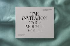 A very high-quality psd invitation card mockup on top of a beautiful fabric texture. Easily change the fabric color and add...