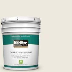 BEHR Premium Plus 5-gal. #720C-1 White Truffle Zero VOC Semi-Gloss Enamel Interior Paint 305005 at The Home Depot - Mobile