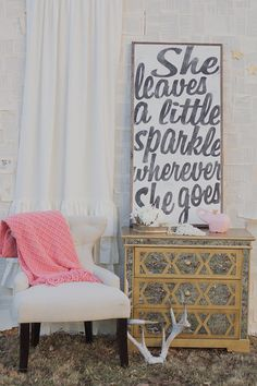 Sparkle Sign by TheHouseofBelonging on Etsy, $125.00 - cute for little girls room