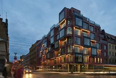 Отель с пиксельным фасадом в Риге