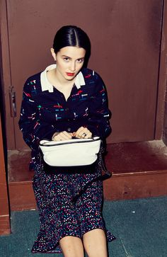 How Actress Julia Goldani Telles Thinks Coco Chanel Would Live Today: We quizzed her on how *she* thinks Gabrielle (AKA Coco) Chanel would live today, and how we can all steal a bit of that glamour. -- Chanel printed top and skirt. | Coveteur.com