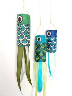 cardboard tube kid's crafts- tp crafts - cardboard fish