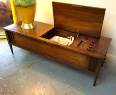 Mid Century Modern Tube Stereo Rebuilt and Restored in March 2015 Circa 1958