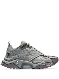 8155e0e55bc Shop Calvin Klein 205W39nyc Grey Strike 205 low-top leather sneakers Mens  Designer Shoes