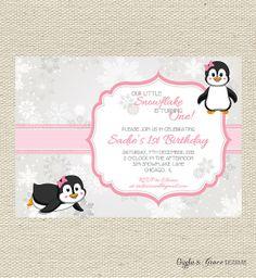 Little Snowflake Birthday Invitation