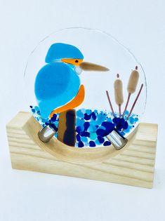 Fused Glass Kingfisher Www.art-glass.co.uk