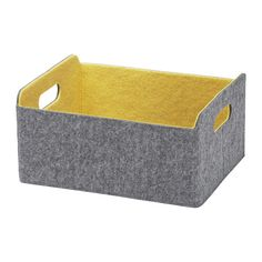 IKEA - BESTÅ, Box, yellow, , Helps you keep your BESTÅ storage combination organized. Perfect for storing anything, from magazines and remote controls to DVDs, toys, or hobby supplies.Easy to pull out and lift as the box has cut-out handles.Soft felt protects your things and keeps them in place so they don't move when you pull out the box.