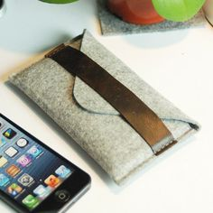 iPhone 5 Case, iPhone 5 Sleeve, iPhone5 wallet , iPhone5 Cover with Genuine Leather Strap (207)