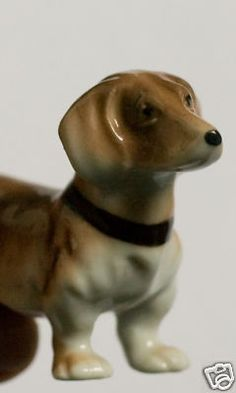 Porcelain Dachshund from Occupied Japan (I collect lots of Occupied Japan pieces but I have a special affection for dog figurines, not necessarily dachshunds.)