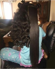 hopefully my daughter will inherit my genes and THENS.- hopefully my daughter will inherit my genes and THENSOME and have long thick hair like THIS! Curly Hair Styles, Natural Hair Styles, Long Natural Hair, Natural Curls, Natural Life, Professional Hair Straightener, Hair Shrinkage, Beautiful Black Hair, Black Curly Hair
