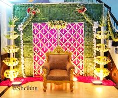 Image may contain: people sitting and indoor Background Decoration, Backdrop Decorations, Flower Decorations, Party Backdrops, Backdrop Design, Desi Wedding Decor, Garden Wedding Decorations, Wedding Events, Wedding Bride