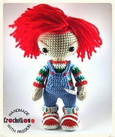 Amigurumi, Chucky, doll, Crochetkowo