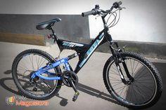 Mountainbike Enta RideOn 24 Zoll Schwarz-Blau