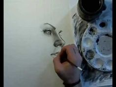 black and white water color portrait - Google Search