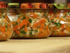 Jarzynka na zimę Polish Recipes, Preserves, Pickles, Food And Drink, Cooking Recipes, Tasty, Treats, Homemade, Canning
