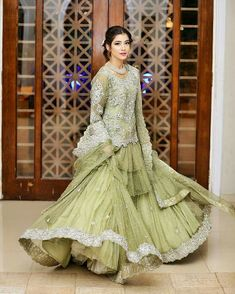 Therefore, it mainly depends on their selection. The fact is that their preferences greatly differ, which also depicts their personality. Dulhan Dress, Walima Dress, Pakistani Formal Dresses, Pakistani Wedding Outfits, Pakistani Wedding Dresses, Bridal Outfits, Indian Dresses, Fancy Dress Design, Stylish Dress Designs