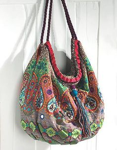 nepal namaste paisley embroidered bag - Google Search