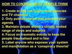 How to control what people think.