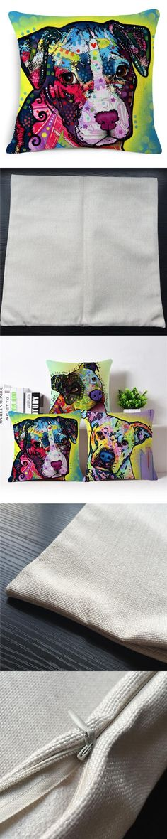 Schnauzer Cushion Covers Garden Furniture  Decorative Pillow Covers For Couch Car Covers Dog Print Cotton Linen Plain Cushions