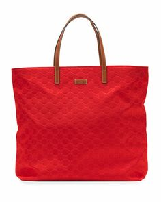 I want! Sunny Guccissima Small Tote Bag, Red by Gucci