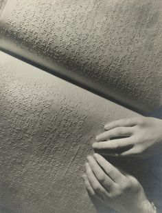 poboh:  Reading Braille, ca 1936, Roy Pinney. (1911 - 2010)