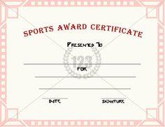 Sports Award Certificates Award Certificates For Sports Certificate  Templates, Sports Award Certificates Certificate Templates, Sports Award  Certificate ...