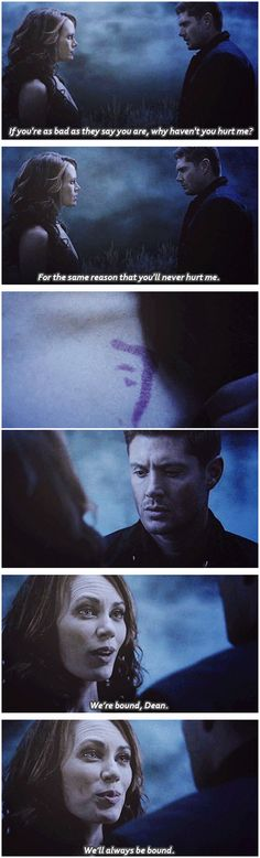 [gifset] 11x01 Out The Darkness, Into The Fire #SPN #Dean #Amara