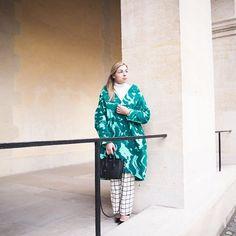 #OOTD @marimekkodesignhouse presentation 📷 @inmyballerines #satumaaranen coat #marimekko pants