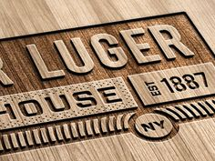 Dribbble - Peter Luger Re-Design by Wade Winebrenner