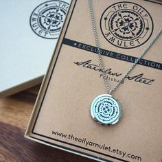 Stainless Steel Essential Oil Diffuser Locket by TheOilyAmulet