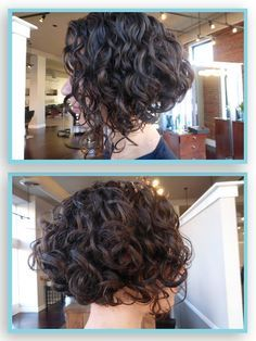curly inverted bob - Google Search