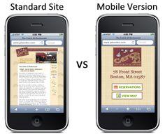 Responsive Design vs. a Mobile Site - Google's Distinguished Engineer Matt Cutts Explains More.