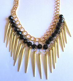 collar-moda-azulnegroblanco-etc-facetadas-dorados