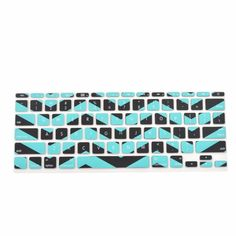 """TopCase Black Chevron Series Zig-Zag Silicone Keyboard Cover Skin for Macbook Air 11"""" + TopCase Mouse Pad (Macbook Air 11"""" A1465, Hot Blue and Black) TOP CASE,http://www.amazon.com/dp/B00GTYHLD0/ref=cm_sw_r_pi_dp_jDX3sb03RHDCSJD8"""