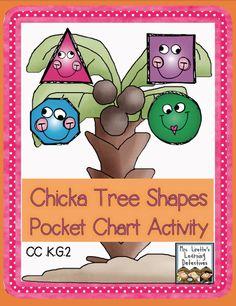 Chicka Tree Shapes: FREE Pocket Chart Activity