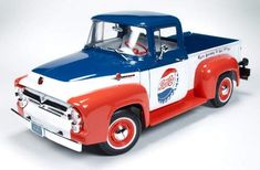 1956 Ford Pick-up (Pepsi) Hot Rod Trucks, Old Trucks, Coca Cola, Cola Wars, Ford Pickup Trucks, Retro Advertising, Mountain Dew, Classic Trucks, Classic Cars