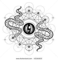 New Ideas Eye Tattoo Design Symbols Sacred Geometry Music Tattoo Designs, Tattoo Designs Men, Tattoo Music, Sacred Geometry Symbols, Music Drawings, Black And White Drawing, Symbolic Tattoos, Album Covers, Geometry Tattoo