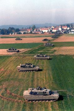 American main battle tanks Abrams in exercises somewhere in Germany. M1 Abrams, Army Vehicles, Armored Vehicles, Military Photos, Military History, Army Day, Us Army, Military Weapons, Military Force