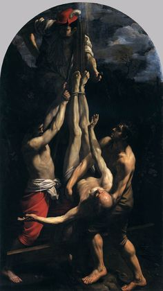 RENI, Guido Crucifixion of St Peter 1604-05 Oil on canvas Pinacoteca, Vatican