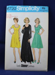 Vintage 1970's Pattern for a Dress in Size 18.5 - Style 6720 by TheVintageSewingB on Etsy