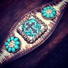 "The ""Turquoise Cross"" Bronc Halter"