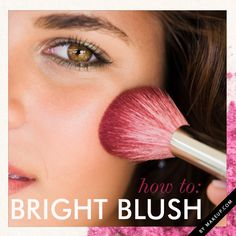 how to wear bright blush // super simple summery tutorial