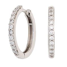 Dreambase Damen-Ohrschmuck Creole 22 Diamant-Brillanten 14 Karat (585) Weißgold 0.33 ct. Dreambase http://www.amazon.de/dp/B00N5C5ANM/?m=A37R2BYHN7XPNV