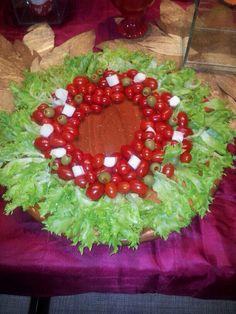 Guirlanda de Natal com tomates cereja