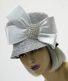 Look! new whittall  amp  shon silver hat rhinestone encrusted church cogic  derby Silver Hats a1bdf23f5fe