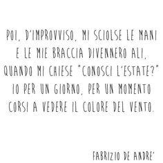 """Fabrizio De Andrè - Dalla canzone """"Il Sogno di Maria""""."""