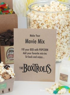 family movie night - Boxtrolls watching party