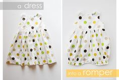 How to make a baby romper from a baby dress - tutorial